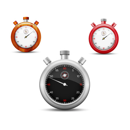 The set of three stopwatch graphic elements Stock Vector - 22957517