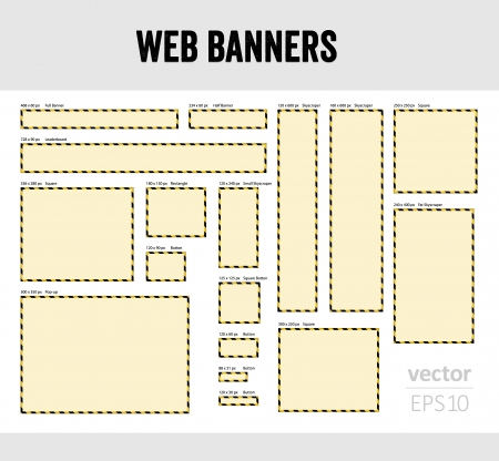 The set of blank web banner templates Vector