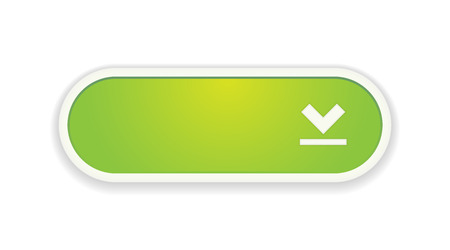 The download green button with white frame Vector