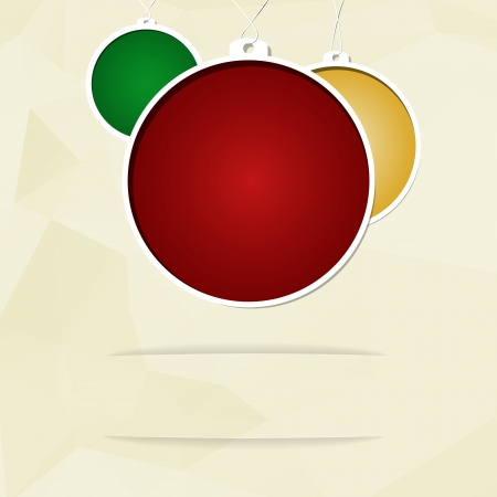 The blank greeting card with Christmas balls  Vector