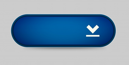 The download blue button with white frame  Vector