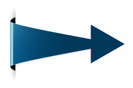 非表示のエッジ効果と青色の矢印