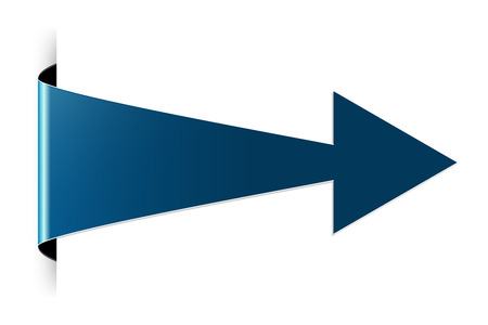 The blue arrow with hidden edge effect