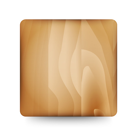 The wooden blank button ready for your text Vector