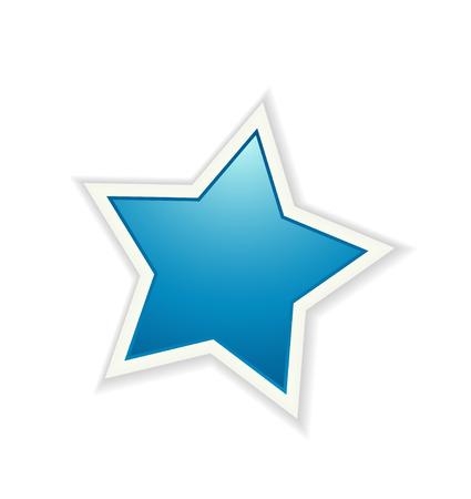 estrella azul: El elemento gr�fico icono estrella azul