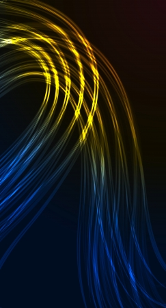 The abstract background made out of lighting lines Vector