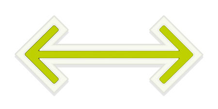 graphic element: The green glossy arrow graphic element Illustration