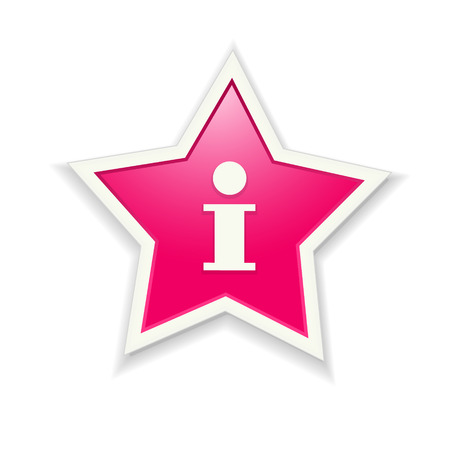 graphic element: The pink star icon graphic element