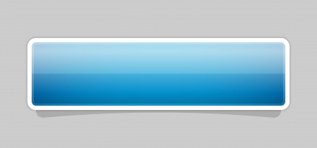 The blank blue button ready for your text Illustration