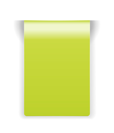 The blank green rectangle tag