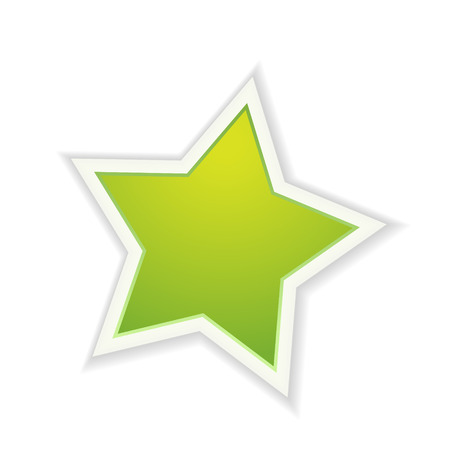 graphic element: The green star icon graphic element