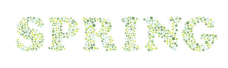 the spring sign made out of small flowers Vector