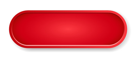 The blank red oval button ready for your text