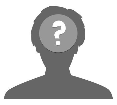 the pictogram of a head with question mark Imagens - 25242812