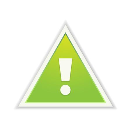 акцент: зеленый треугольник с восклицательным знаком Иллюстрация