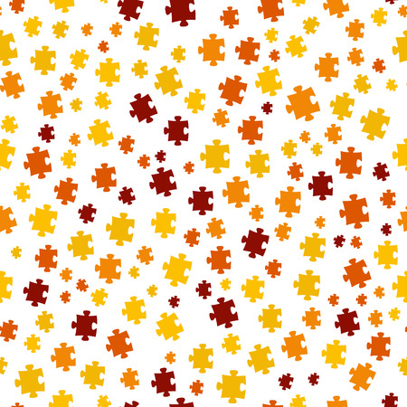 The puzzle background made out of color puzzle pieces
