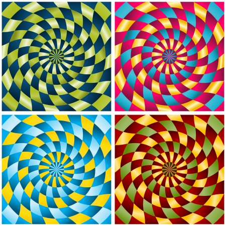 never ending: the set of four abstract never ending backgrounds
