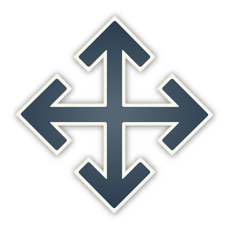 the dark arrow crossroad sign Vector