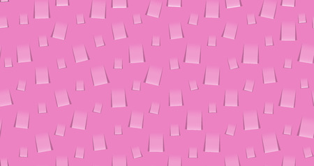 The abstract seamless made out of pink note papers