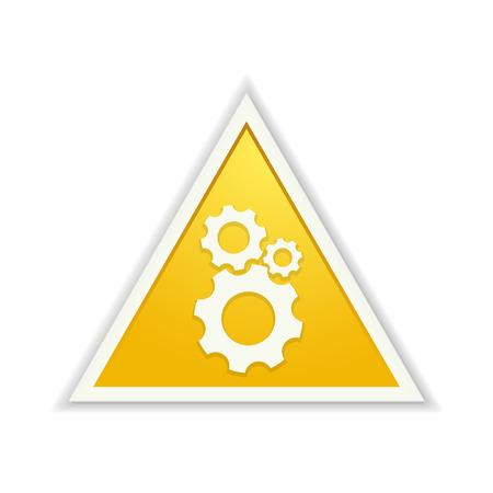 triangle button: El bot�n amarillo tri�ngulo con el s�mbolo de ajuste