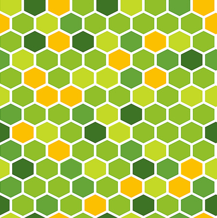 The geometric made out of hexagons in various colors Illustration