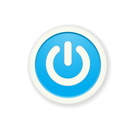 standby: the blue circle button with standby icon