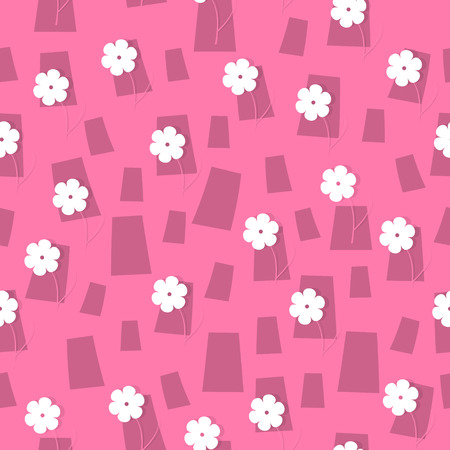 the abstract seamless background made out of flowers Illustration