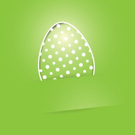 The concept of Easter greeting card with the egg illustration Illustration