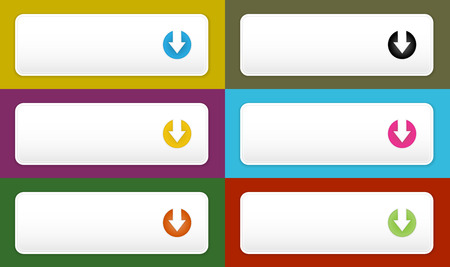 The blank white buttons with download pictogram