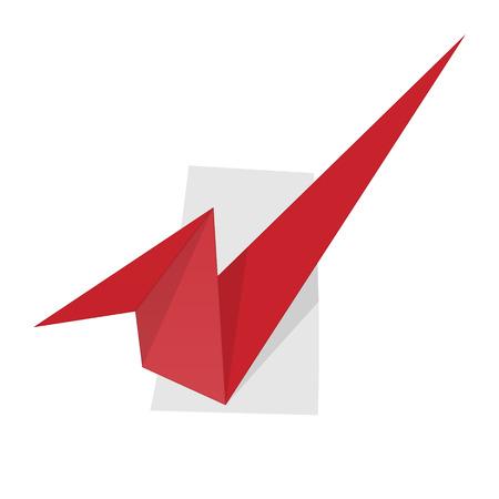 accepter: l'illustration de signe accepter dans le style origami
