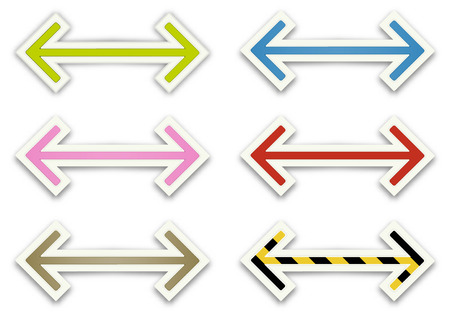 hesitation: The set of glossy arrows graphic elements