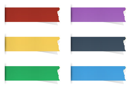 the set of  blank torn piece of papers Vector