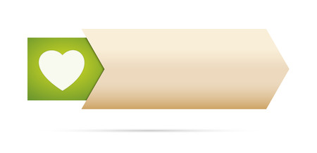 the blank button with green heart pictogram