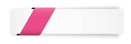 空のピンクのリボンとスタイリッシュな web バナー