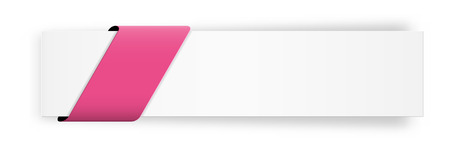 the stylish web banner with blank pink ribbon