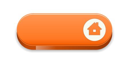 the blank glossy orange button with house icon Illustration