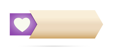the blank button with purple heart pictogram