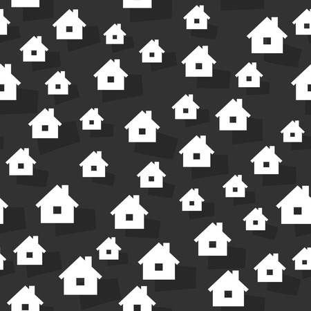 homely: the abstract seamless background made out of house graphic elements Illustration