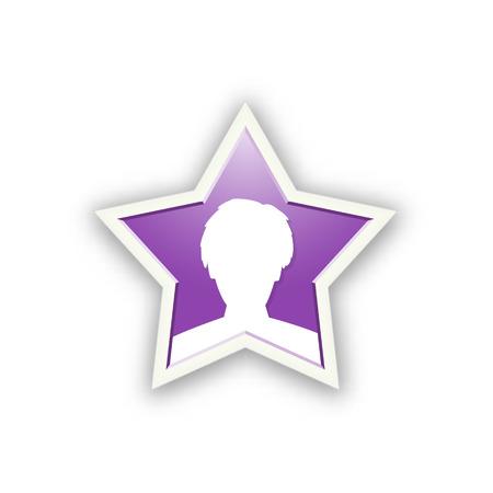 the illustration of man head in star shape Vector