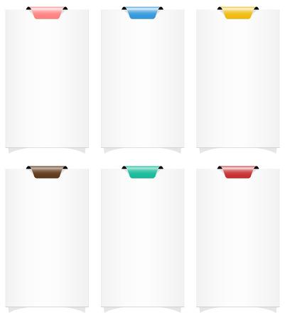 de set van lege horizontale web banner sjablonen met kleur tag Stock Illustratie