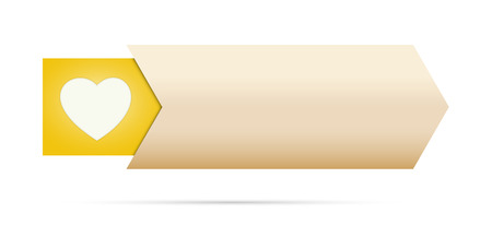 the blank button with yellow heart pictogram Illustration