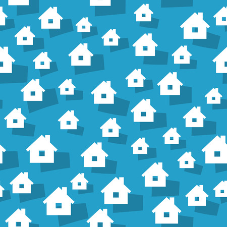 homely: the abstract seamless background made out of house graphic elements  the house background  the home background Illustration