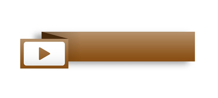 the illustration of blank brown rectangle label with arrow icon Vector