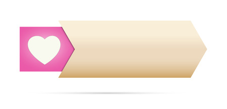 the blank button with pink heart pictogram