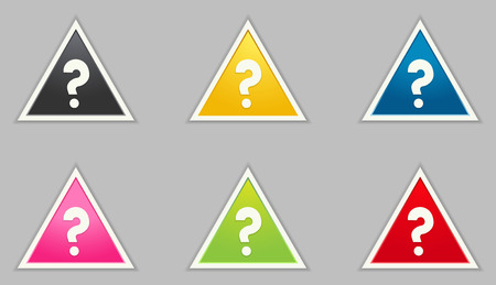 the collection of triangle illustrations with question mark icon Vector