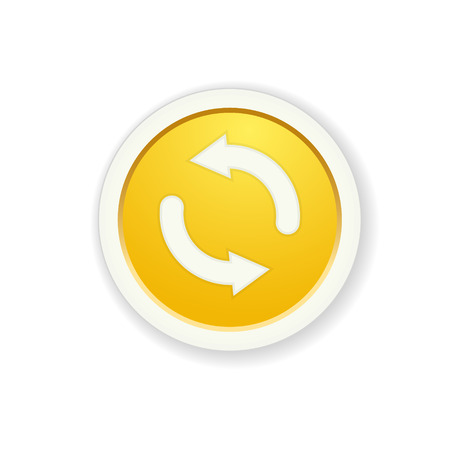 the yellow button with process symbol Stock Vector - 27159710