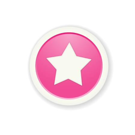 radio button: l'illustrazione del pulsante lucido con stella pittogramma