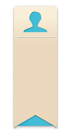 the blank info template with head silhouette Vector