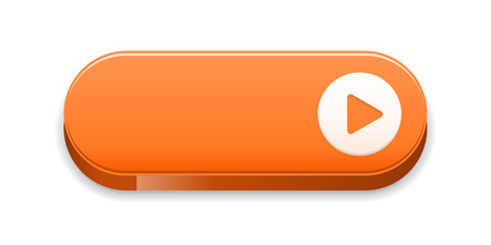 the orange blank button with arrow sign Vector
