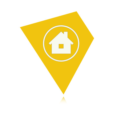 the illustration of tag with house pictogram Vector